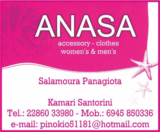anasa clothes